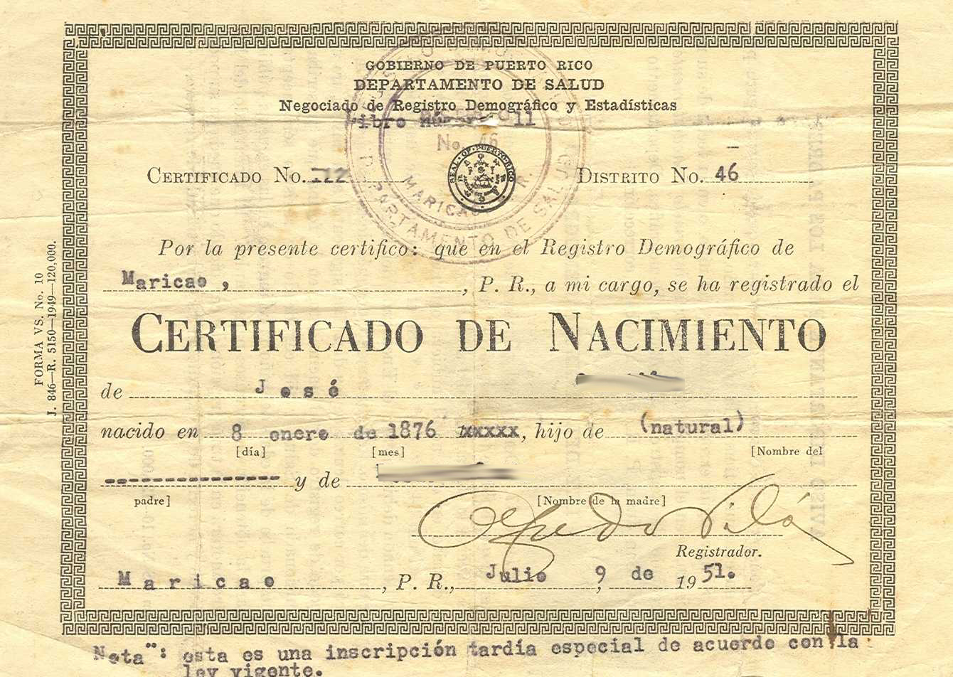 Birth Certificates From Puerto Rico Texas Criminal History