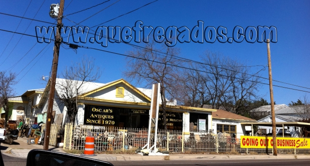 Oscar's Antiques on Guadalupe Street, Laredo, Texas