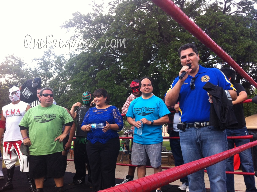 In the ring with LWA and the leaders of St. Peter's Historic Neighborhood Association