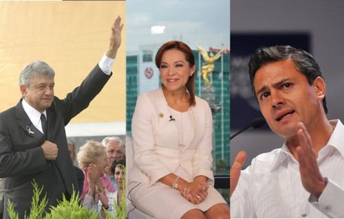 Photos from Flickr: Jovenes AMLO & World Economic Forum Andres Manuel Lopez Obrador PRD, Josefina Vazquez Mota PAN & Enrique Peña Nieto PRI